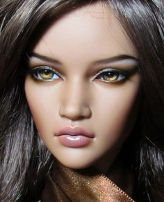 2 head-wake up+sleep face 1//12 BJD Doll Without Any Make Up Resin