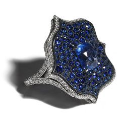 Sapphire and diamond ring by BAYCO