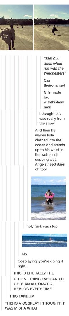 Cause lets face it, this is something misha would do... ❤