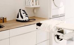 Laundry Room, Home Appliances, Cabinet, Storage, Furniture, Home Decor, Dressing, Google, Ironing Station