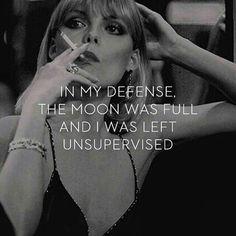 In my defense....