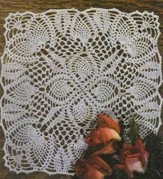 Free Crochet Pineapple Doily Pattern. Might be cliche but I made it in yellow and it looks great!