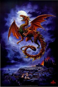 Dragon, no longer posted. Mystical Fantasy Pictures of Dragons Fantasy Kunst, Fantasy Art, Dragon Medieval, Dragon Rouge, Mythical Dragons, Dragon's Lair, Dragon Artwork, Dragon Pictures, Fantasy Pictures