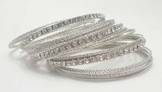 Rhinestone Bangle Stacking with Metal Slim Bangle. Unique India Classic Multi Layers Bangle Set. Wholesale Bangle for Women-in Bangles from Jewelry on Aliexpress.com | Alibaba Group