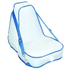 Deluxe Inflatable Kayak Seat : The Deluxe Inflatable Kayak Seat from Sea Eagle has been re-designed based on an older model to provide additional back support. The rear extension fits neatly into rim of any Sea Eagle kayak and will work with other brands of inflatable kayaks, putting a large cushion of air in support of your back. Includes a rear pocket to store your sunscreen, sunglasses, rain poncho, maps or other paddling gear.