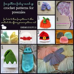 Free Pattern Friday RoundUp! Crochet Patterns for Preemies.