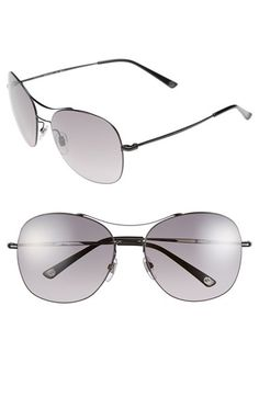 Gucci 58mm Navigator Stainless Steel Sunglasses available at #Nordstrom