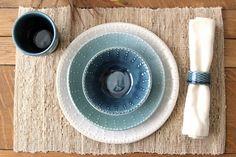 Black Bay Pottery / Ocean blue ombre dinnerware