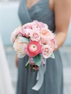 Pretty pink bouquet: http://www.stylemepretty.com/2015/03/02/pink-gray-downtown-cincinnati-wedding/ | Photography: Clary Pfeiffer - http://www.claryphoto.com/