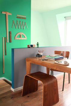 espace bureau peinture couleur du monde vert jade gris bleu vert jade couleurs du monde et. Black Bedroom Furniture Sets. Home Design Ideas