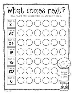 """Sample student page from """"LEARNING WITH OUR 120 CHARTS {GRADES 1-2}"""" - TeachersPayTeachers.com  (17 pages, $)"""