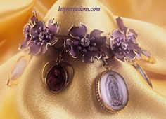 Catholic Vintage and New Virgin Mary, Saints Religious Medals Bracelet #Handmade #HolyMedalCharmPendant www.letyscreations.com