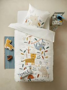 Kids' Duvet Covers - Cot Bed Duvets For Children Childrens Duvet Covers, Cot Blankets, Travel Cot, Jungle Party, Duvet Bedding, Bath Toys, Kids House, Soft Colors, Home Accessories