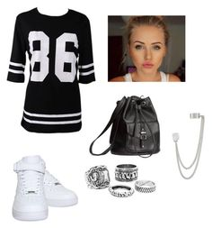"""""""This style ... ❤"""" by katy-nes-cata ❤ liked on Polyvore featuring NIKE, H&M and French Connection"""