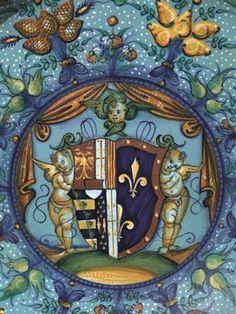Piatto da parata CON stemma ARALDICO -  Faenza, bottega Bergantini, post 1525 | ASTA 27.10.2014, LOTTO 29