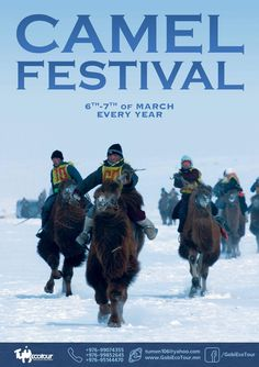 Welcome to #beautiful #mongolia #winter #welcometomongolia #RT #camel #festival