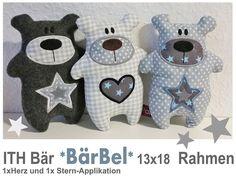 ♥+ITH+Stickdatei+*BärBel*+13x18+Rahmen+♥++von+StoffCut+auf+DaWanda.com