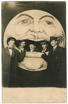 Old school man-in-the-moon photo fun. #photography #vintage #men #guys #1930s