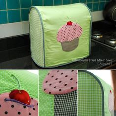 KitchenAid mixer cover,  I made for my friend again. ^^