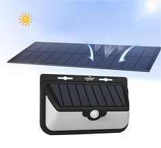 hot sale new design popular Solar Power PIR Motion Sensor Wall Light Outdoor Waterproof garden light