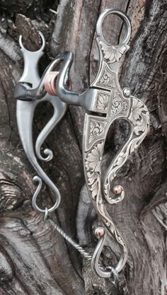 Fresno Shanked Bit with Sterling Silver Overlay by Marc Gilkerson Bits For Horses, Horse Bits, Western Bridles, Western Horse Tack, Equestrian Chic, Cowboy Gear, Horse Fashion, Horse Gear, Crescents