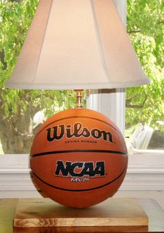 Ultimate Basketball Lamp by Midwestclassiccrafts on Etsy https://www.etsy.com/listing/75200673/ultimate-basketball-lamp