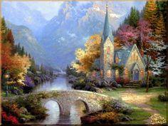 Landscape - 517 Пейзаж, картины, сувенир, подарки