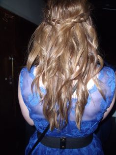 My princess-y 21st party hairstyle