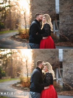 Rochester Highland Park Winter Engagement Session by Rochester Wedding Photographer Katie Finnerty | https://www.katiefinnertyphotography.com/blog/2017.3.14.rochester-restaurant-warner-castle-engagement-session-carrie-jason
