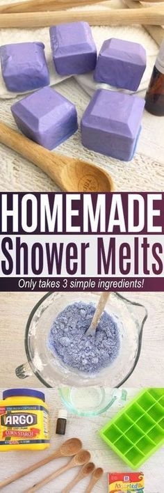 This shower melts recipe is an easy DIY using simple ingredients at home., DIY and Crafts, This shower melts recipe is an easy DIY using simple ingredients at home. If you are curious how to use essential oils in the shower this shower melts. Diy Spa, Diy Beauté, Easy Diy, Fun Diy, Simple Diy, Shower Bombs, Bath Bombs, Do It Yourself Inspiration, Homemade Beauty Products