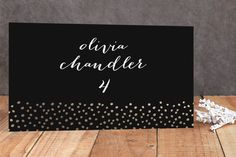 Delicate Dots Foil-Pressed Place Cards by Ashley Hegarty at minted.com