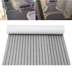 240*45cm 0.6cm Thickness Car SUV RV EVA Foam Flooring Yacht Pad Teak Sheet Grey