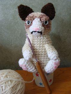 PDF CROCHET PATTERN - Amigurumi Grumpy Cat Plush Crochet Pattern