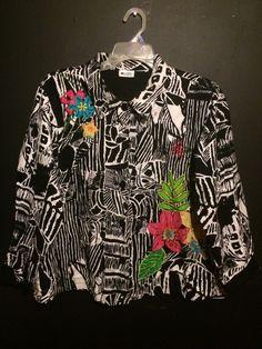 Women's Plus Size Blazer Light Jacket 2X Units Woman Brand Black White Floral  #UnitsWoman #Blazer