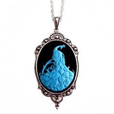 Peacock Cameo Necklace now featured on Fab.
