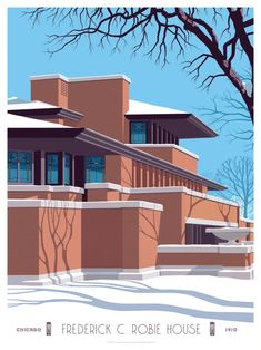 Thomas Danthony, Steve Thomas, Ennis House, Tom Whalen, Spoke Art, Pop Up Art, Famous Buildings, Frank Lloyd Wright, Exhibition Poster