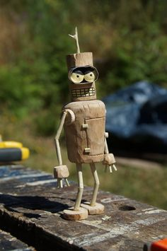 Wooden Bender carving by CLHarley