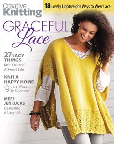 Creative Knitting - Graceful Lace Discussion on LiveInternet - The Russian Online Diaries Service Simply Knitting, Knitting Blogs, Sweater Knitting Patterns, Knitted Poncho, Lace Knitting, Knitted Shawls, Annie's Crochet, Russian Online, Creative Knitting