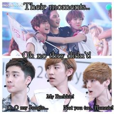 Omg! Can't stop laughing at D.O, Chanyeol, & Luhan's faces! XD. .. exo macros