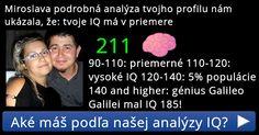 Aké máš podľa našej analýzy IQ?