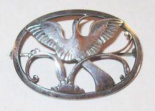 Georg Jensen Sterling Silver Bird Pin #238 Denmark Brooch Paradise