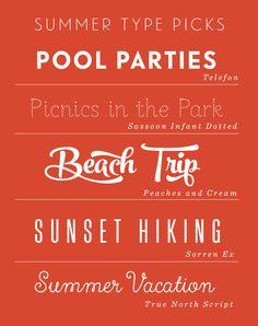 FONT  Summer Type Picks - Studio 404