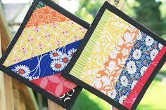 Scrap Buster ----Potholders-----now you know what you can do with your scraps---great gifts for teachers,etc