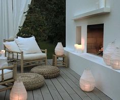 Lighting up your outdoor spaces is important, if you like spending time outdoors at night. Let's consider some ideas how to illuminate your terrace or patio. Outdoor Rooms, Outdoor Gardens, Outdoor Living, Outdoor Furniture Sets, Outdoor Decor, Ikea Outdoor, Outdoor Seating, Luxury Furniture, Furniture Decor