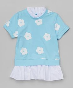 Love this Blue Floral Tunic - Infant, Toddler & Girls by Leighton Alexander on #zulily! #zulilyfinds