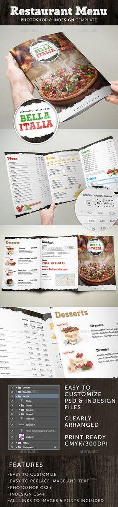 Restaurant Menu Folder Photoshop & InDesign Template #design Download: http://graphicriver.net/item/restaurant-menu-folder-photoshop-indesign-template/9276228?ref=ksioks