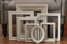 Shabby Chic Decor / 8 Piece Upcycled by hydeandchicboutique, $79.99