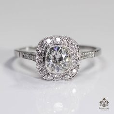 ANTIQUE ART DECO PLATINUM 1.12ctw. DIAMOND RING in Jewelry & Watches | eBay