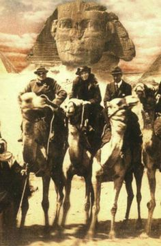 Historical Picture of Winston Churchill, Gertrude Bell, T. E. Lawrence 1921