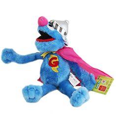 La peluche Rue Sésame représentant Super Grover, le superhéro de la série Sesame Street - Peluche rigolotte très douce de grande taille pour enfant et fans  http://www.lamaisontendance.fr/catalogue/peluche-rue-sesame-super-grover/  #peluche #ruesésame #sesamestreet #elmo #grover #supergrover #jouet
